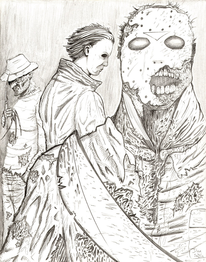 Freddy vs Jason vs Michael by DougSQ on DeviantArt