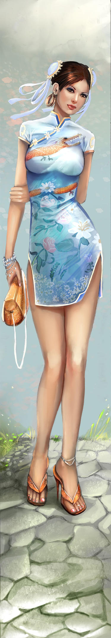 Chun Li Dress Colored by DougSQ
