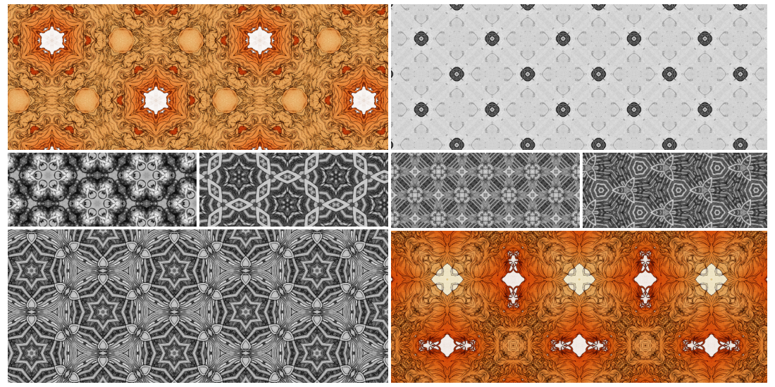 Kaleidoscope tiling patterns by ShyCustis