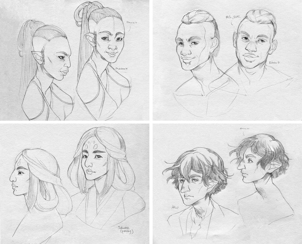 Character Development Previews by ShyCustis