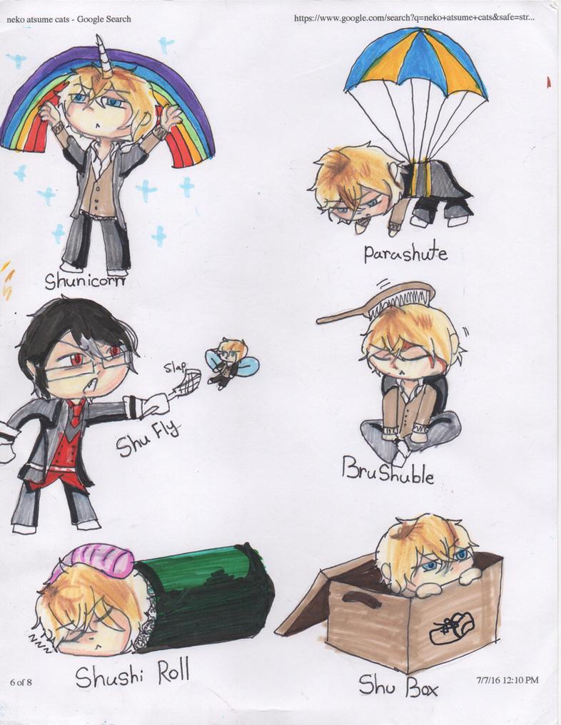 Diabolik Stickers Special series: Shuu puns by redlaserartist