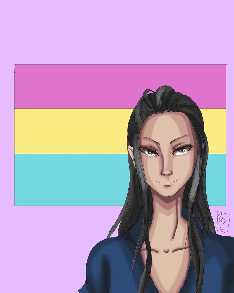 Nico Robin Pride Month by redlaserartist