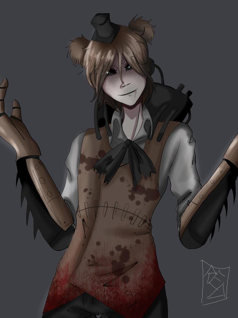 Human Drawkill Freddy by redlaserartist