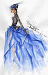 Victorian blue fairy tale