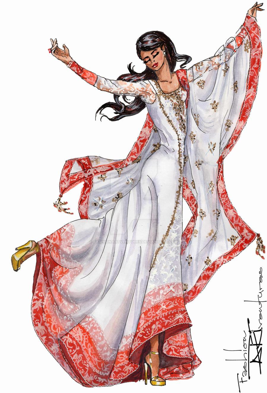 Anarkali Dress Design Sketches