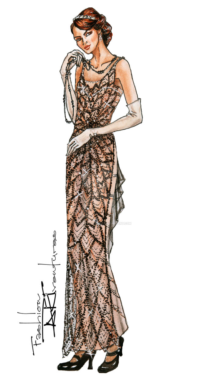 Lady Mary Crawley/ Michelle Dockery/ Downton Abbey by FashionARTventures