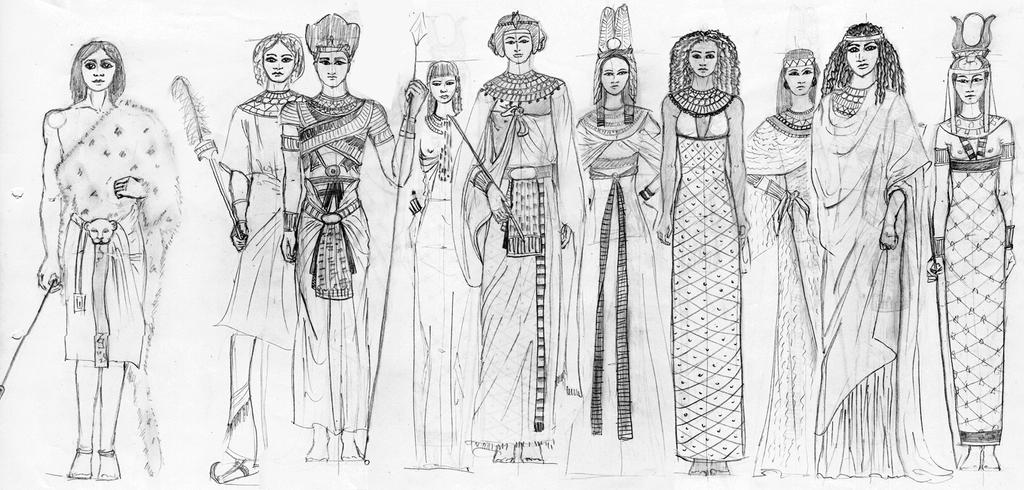 Egypt fashion history study by fashionartventures on for History of fashion designers