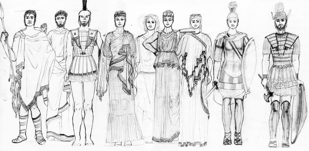 ANCIENT GREECE Fashion History Study By FashionARTventures