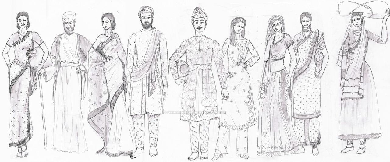 ANCIENT INDIA - Fashion History Study by FashionARTventures