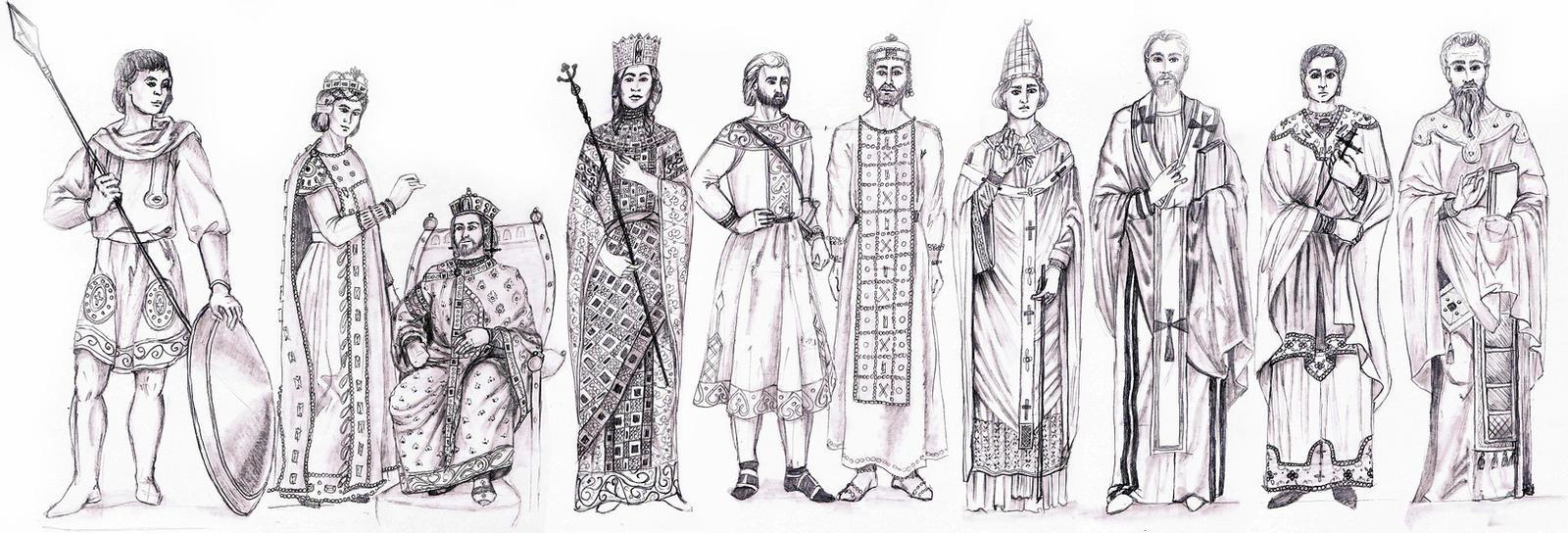 BYZANTINE EMPIRE- Fashion History Study by FashionARTventures