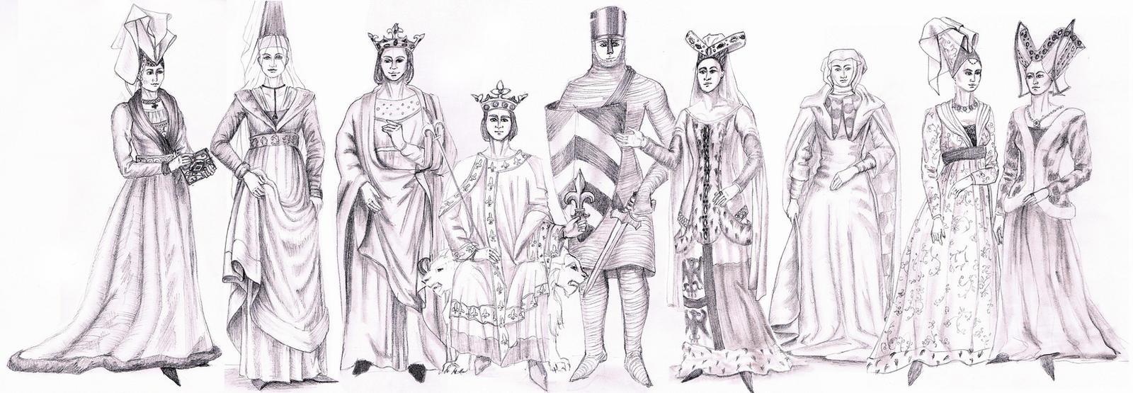MEDIEVAL / GOTHIC FASHION- Fashion History Study by FashionARTventures