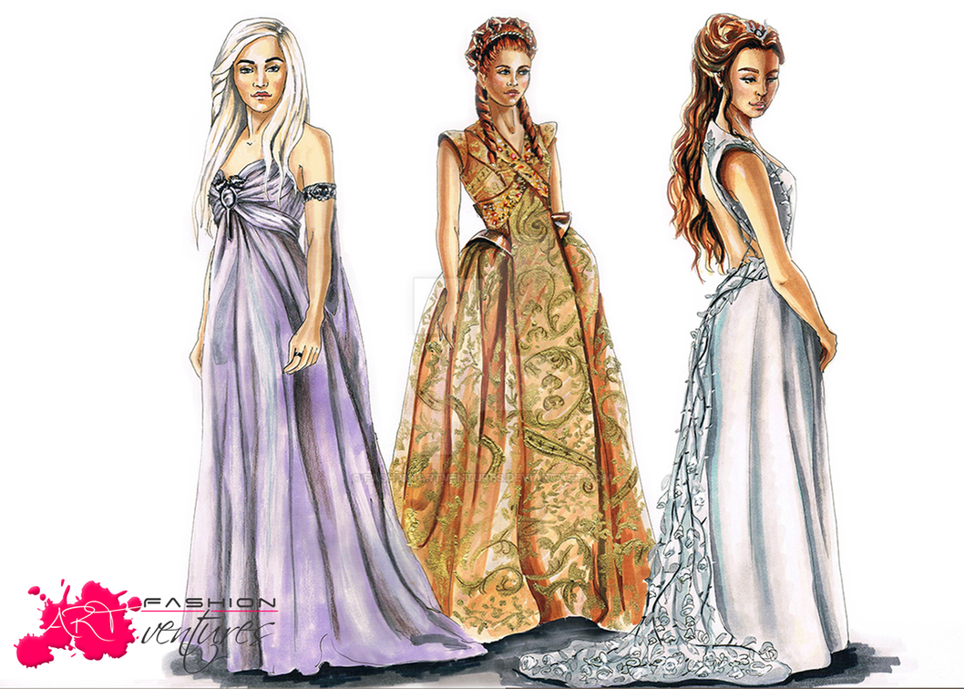 Game of Thrones Wedding Dresses by FashionARTventures