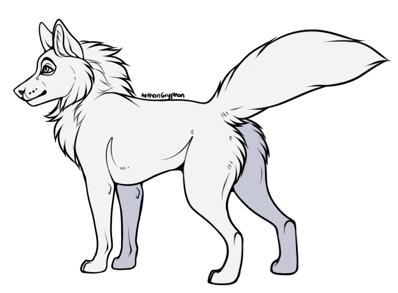 Laika / Cruise / AethonGryphon Free_to_use___wolf_base___transparent_lineart__by_aethongryphon-dcb13bv
