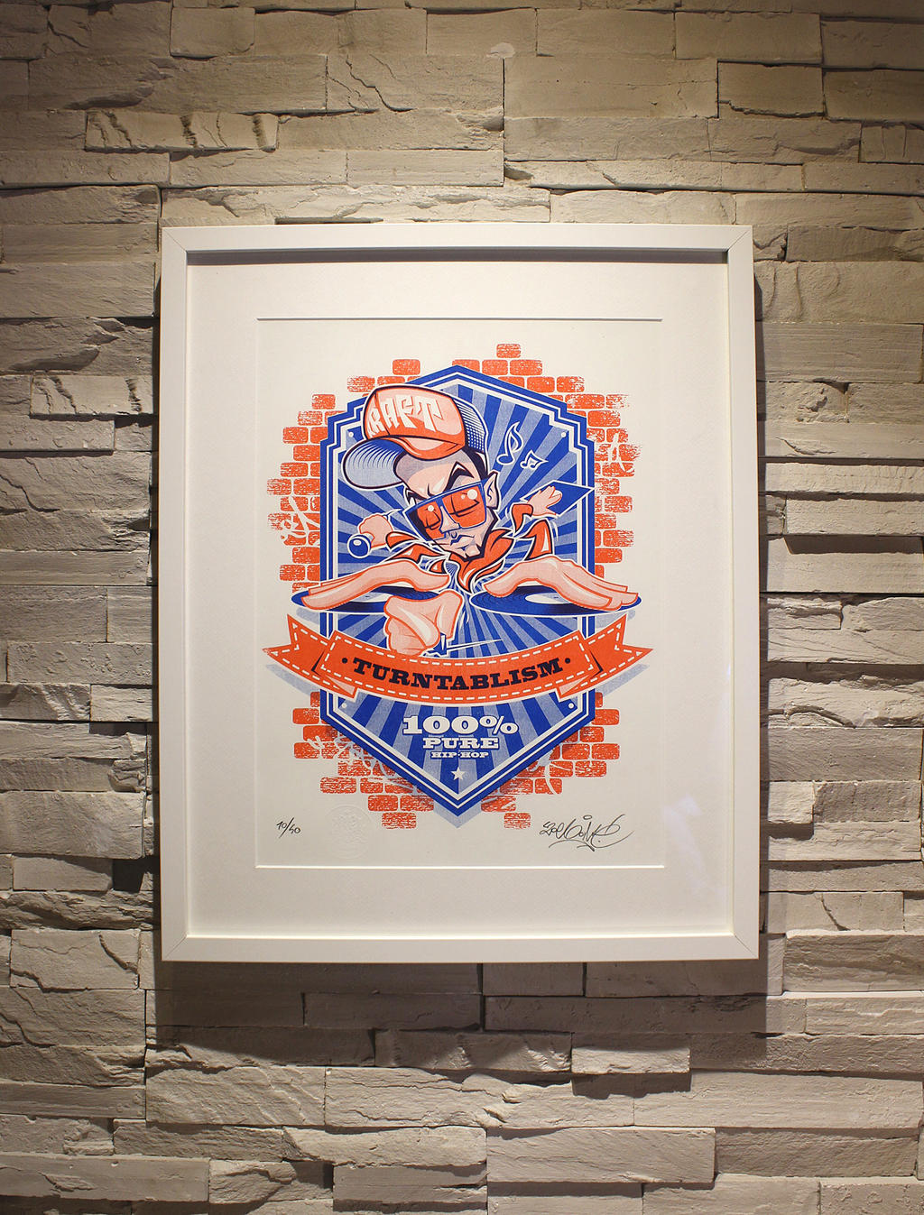 ZoelOne limited edition Riso print - The Kraft by ZoelOner