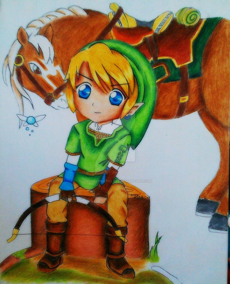 Chibi Link in Zelda: Twilight Princess by SuperHypnoticLove