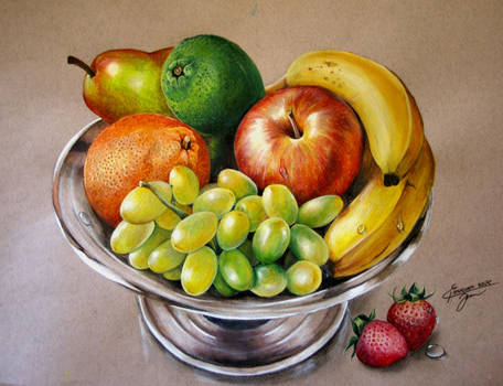 fruits (acrylic on paper)