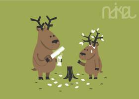 funny deer by ndikol