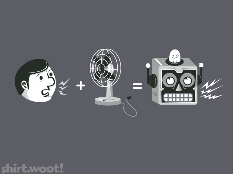Theory of the Robot Voice at shirt.woot.com