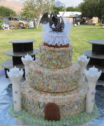 Castle wedding cake by ramenkitsune