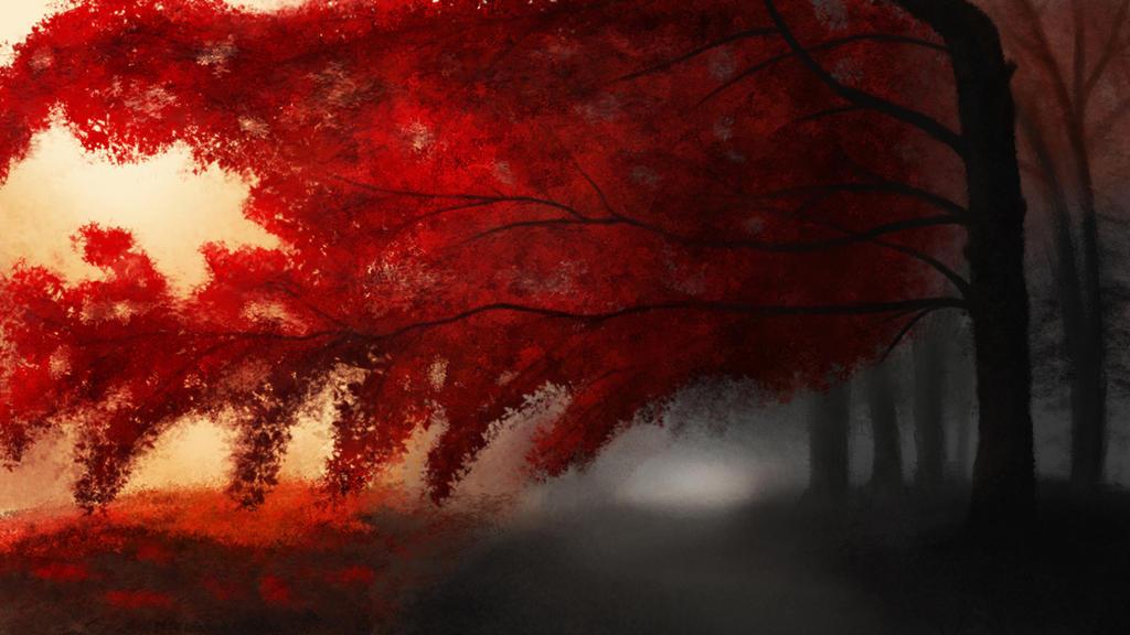 Red Forest by OkDonkey