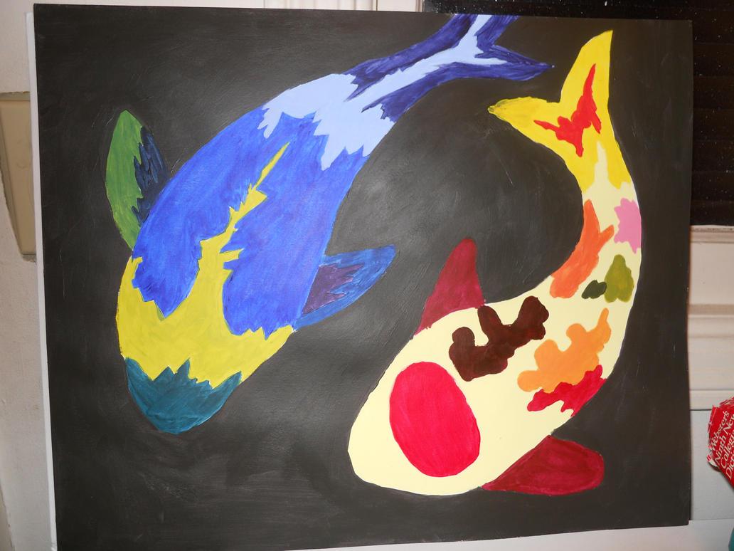 abstract koi fish  22 ...