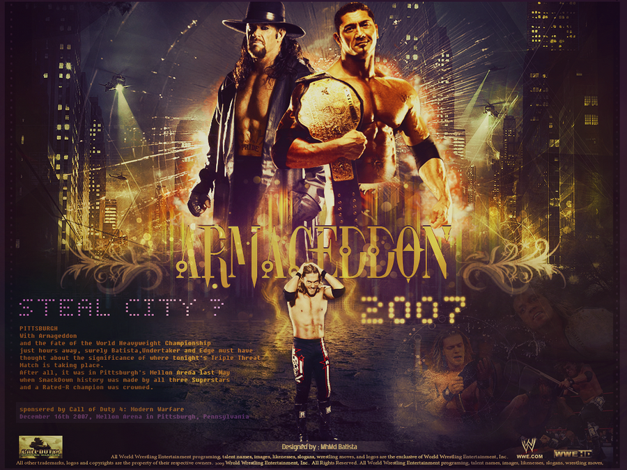 Triple Threat Match for WHC ~ ARMAGEDDON 2007 by MhMd-Batista on ...