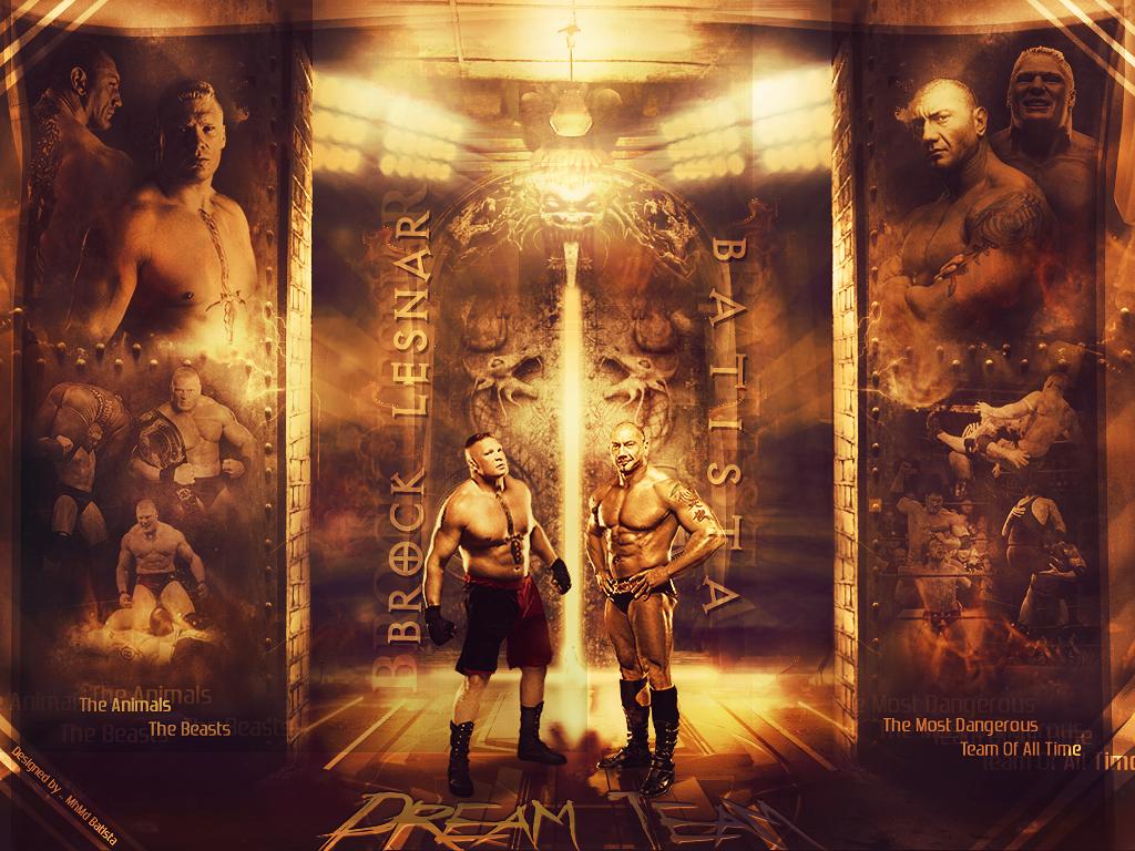 Brock Lesnar Vs Batista 2013 Batista .. Brock Lesna...