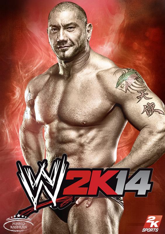 Brock Lesnar Vs Batista 2013 WWE 2K14 Card feat. Ba...