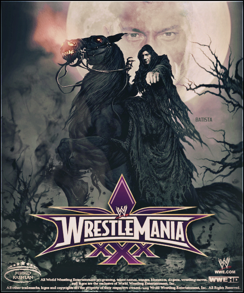 WrestleMania 30 ~ Poster .. Batista 2 by MhMd-Batista on ...