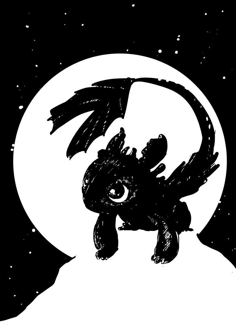 Baby Night Fury - Inktober by Robbertopoli