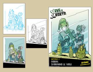 WIP Cover#03 Variant  - Vivi e Vegeta by Robbertopoli