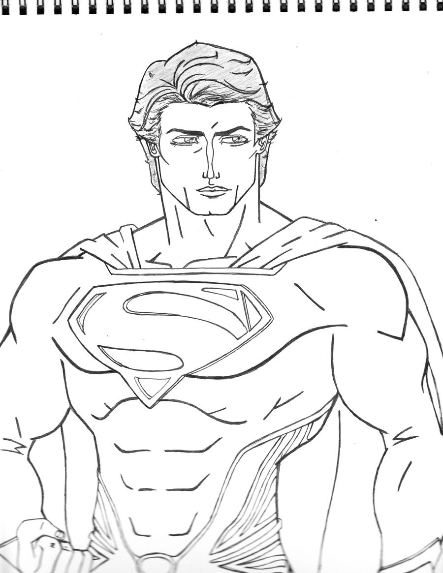 Man of steel drawing by moonknight117 on deviantart for Man of steel coloring pages