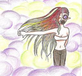 Gas Mask Girl by vampyrekittyomega