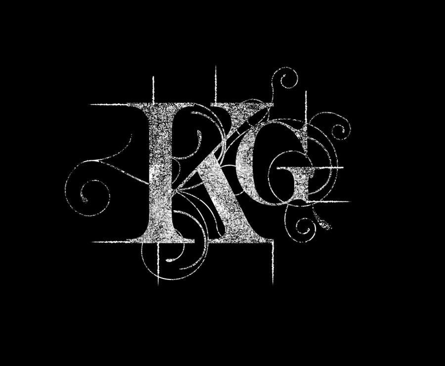 kg initials logo rough by rox52 on deviantart