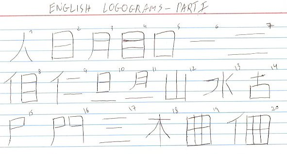 English logograms - Part 1 by Sano-Balron