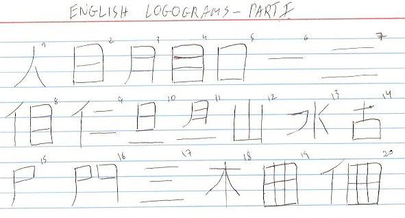 English logograms - Part 1 by Sano-Balron
