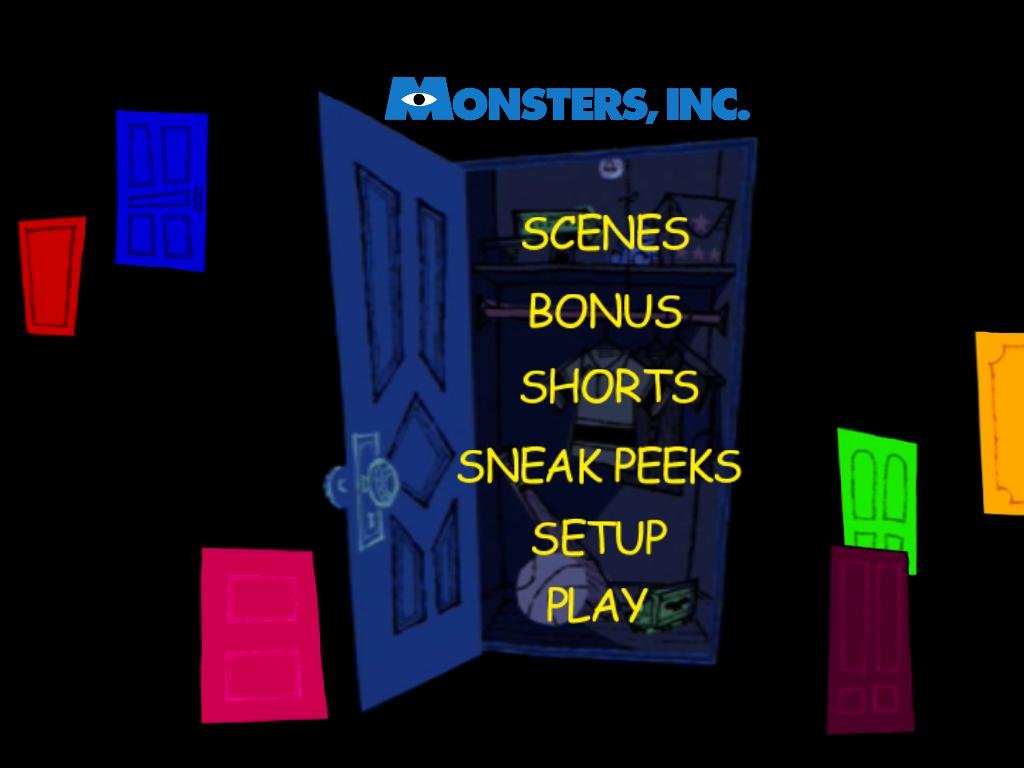 Monsters university dvd menu