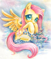 Fluttershy on holiday by Turonie