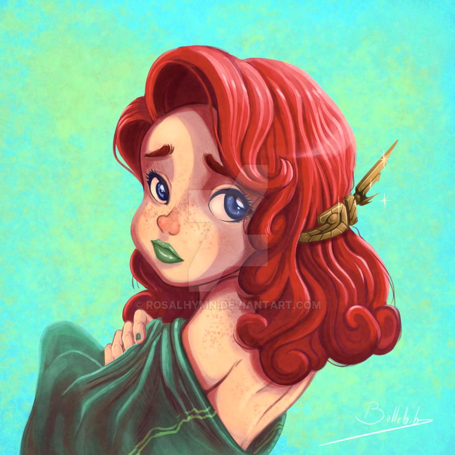 Sad redhead by Bollebib