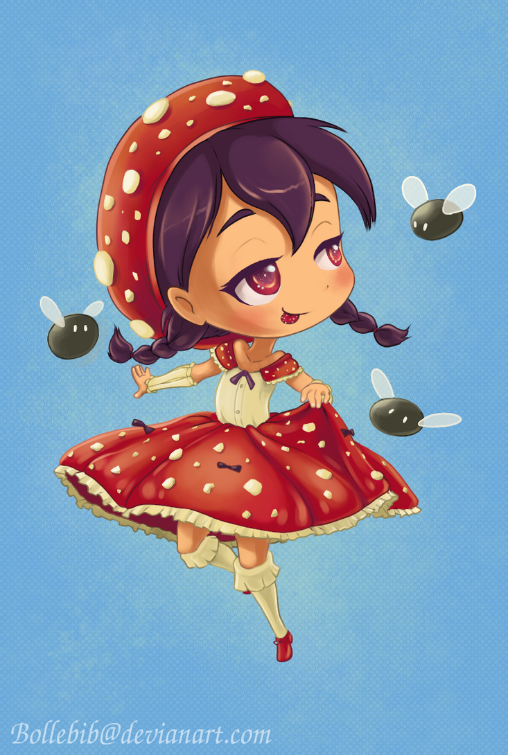 Chibi Moeshroom -  Like Flies To Honey by Bollebib