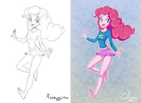 Cheerleader Pinkie - Colored by Cabrony