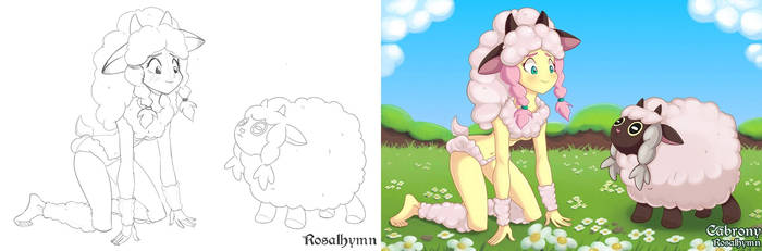 Wooloo Fluttershy - Colored by Cabrony
