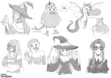 Halloween 2020 (Request Stream Sketches)