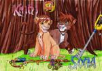 Kairi and Sora, lions