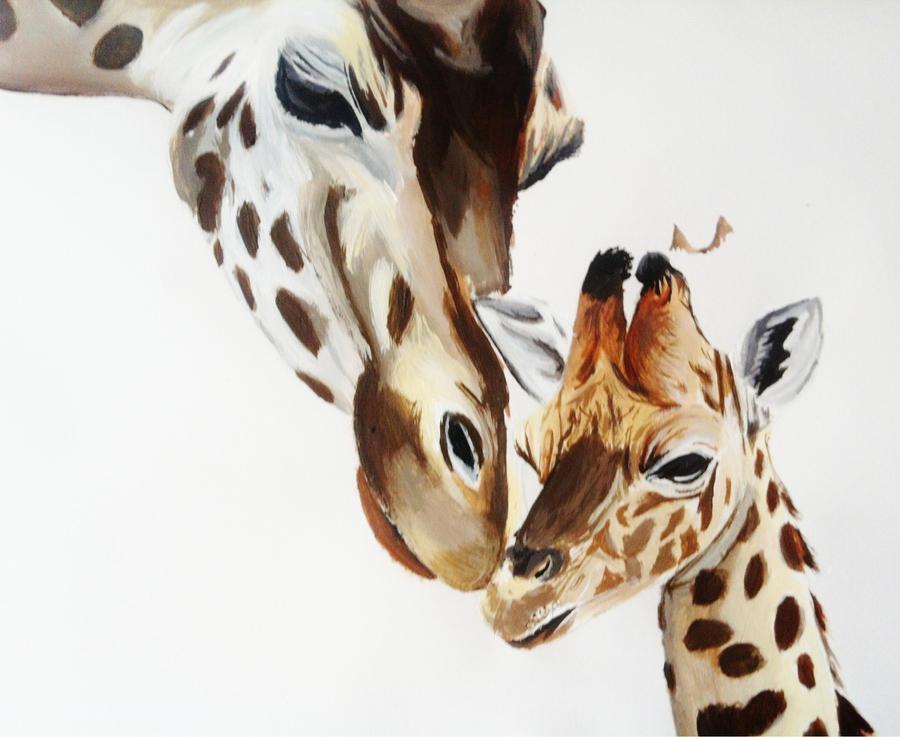 Colorful Giraffe Paintings Giraffe Painting by