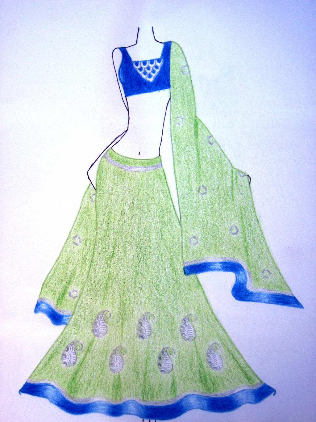 Indian Dress Sketch 3 By Moumita28 On Deviantart