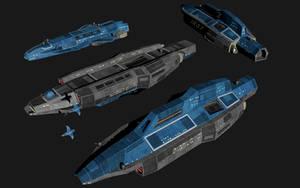 Kherlen-class Auxiliary Cruiser by Zibblsnrt
