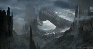 Derelict Spacecraft Homage to H.R. Giger by 2wenty