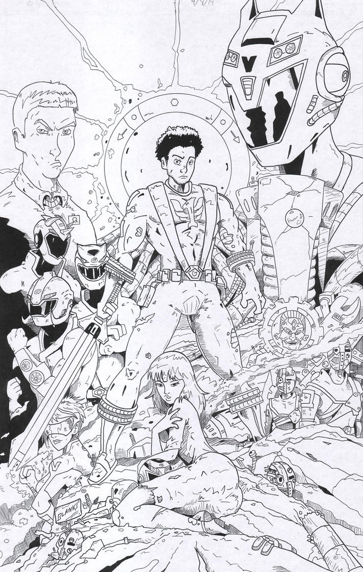 Power Rangers RPM - RECONSTRUCTION INKS by BrandonBlanks