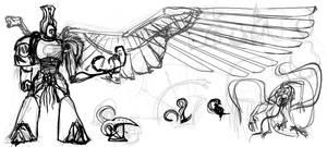Tzeentch Sorcerer Sketch